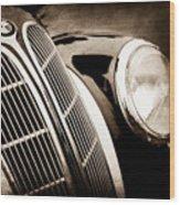1938 Bmw 327-8 Cabriolet Grille Emblem -1526s Wood Print