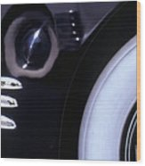 1938 Cadillac Limo Wheel Well Reflections Wood Print