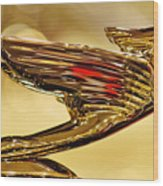 1938 Cadillac V-16 Sedan Hood Ornament 2 Wood Print