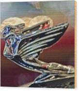 1938 Cadillac V-16 Sedan Hood Ornament Wood Print