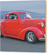 1938 Chevrolet 'all Business. Coupe Wood Print