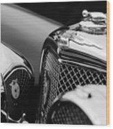 1938 Jaguar Ss100 3.5-liter Roadster Grille Wood Print