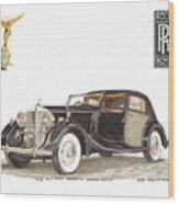 1938 Rolls Royce Phantom I I I Sedanca Deville Wood Print