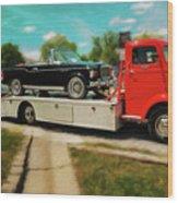 1938 Studebaker Cab Over Wood Print