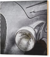 1938 Talbot-lago 150c Ss Figoni And Falaschi Cabriolet Headlight - Emblem -1554ac Wood Print