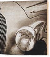 1938 Talbot-lago 150c Ss Figoni And Falaschi Cabriolet Headlight - Emblem -1554s Wood Print