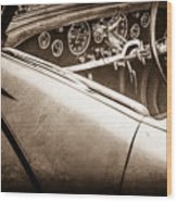 1938 Talbot-lago 150c Ss Figoni And Falaschi Cabriolet Steering Wheel -1561s Wood Print