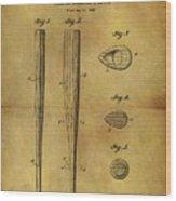1939 Baseball Bat Patent Wood Print