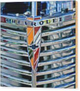 1939 Chevrolet Coupe Grille Emblem Wood Print