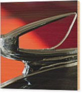 1939 Chevrolet Hood Ornament 2 Wood Print