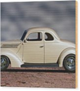 1939 Chevrolet White Coupe Wood Print