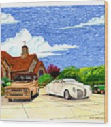 1939 Lincoln Zephyr  Family Home Wood Print