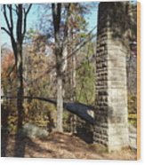 1939 Swinging Bridge Wood Print by Joel Deutsch