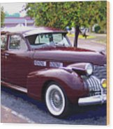 1940 Classic Cadillac  Wood Print
