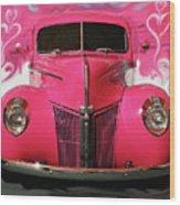1940 Classic Hot Pink Ford Wood Print
