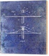 1940 Cymbal Patent Blue Wood Print