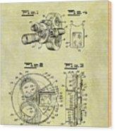 1940 Film Camera Patent Wood Print