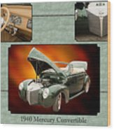 1940 Mercury Convertible Vintage Classic Car Painting 5238.02 Wood Print