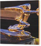 1940 Packard Hood Ornament Wood Print