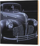 1940 Torpedo Coupe B/w Wood Print