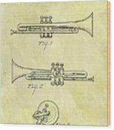 1940 Trumpet Patent Wood Print
