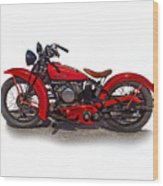 1940's Indian Motorcycle Wood Print