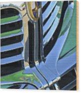 1940's Lincoln Hood Emblem Wood Print