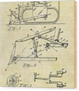 1941 Bulldozer Patent Wood Print
