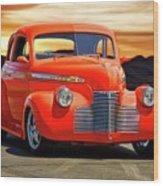 1941 Chevrolet Coupe 'reno Sunrise' Wood Print
