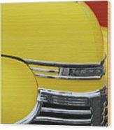 1941 Chevrolet Sedan Hood Ornament 2 Wood Print by Jill Reger