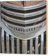 1941 Chevy - Chevrolet Pickup Grille Wood Print
