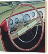 1941 Chrysler Newport Dual Cowl Phaeton Steering Wheel Wood Print