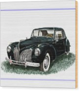 1941 Lincoln Continental Mk 1 Wood Print