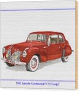 1941 Mk I Lincoln Continental Wood Print