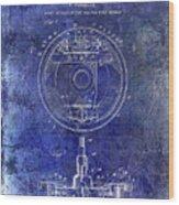 1941 Porsche Brake Mechanism Patent Blue  Wood Print