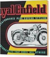 1941 Royal Enfield Motorcycle Ad Wood Print
