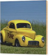 1941 Willys Coupe Dragster Wood Print