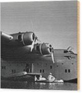 1942 China Clipper Vists Hawaii Wood Print