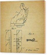 1943 Barber Apron Patent Wood Print