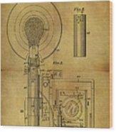 1943 Camera Flash Patent Wood Print