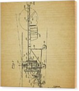 1943 Helicopter Patent Wood Print