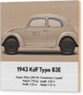 1943 Kdf Type 83e - Sand Wood Print
