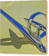 1946 Buick Convertible Hood Ornament 2 Wood Print