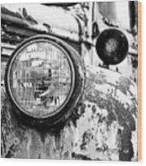 1946 Chevy Work Truck - Headlight Detail Wood Print