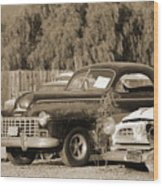 1946 Dodge In Sepia Wood Print
