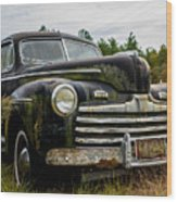 1946 Ford Model A Wood Print