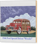 1946 Ford Woody Wood Print