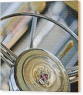 1947 Buick Roadmaster Steering Wheel Wood Print