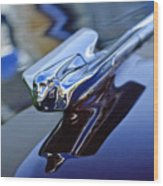 1947 Cadillac 62 Convertible Hood Ornament Wood Print
