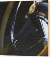1947 Cadillac Model 62 Coupe Steering Wheel Wood Print
